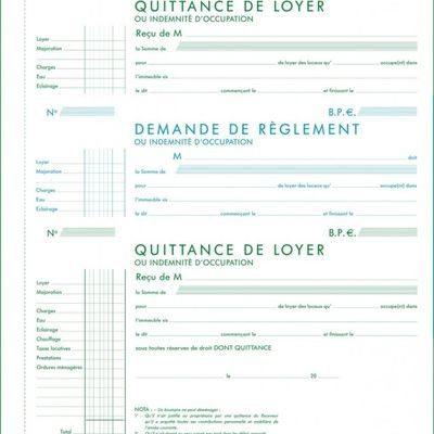 Quittance De Loyer Remplie Exacompta Les Patients Du Doc